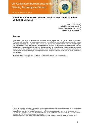 Mulheres Pioneiras nas Ciências: Histórias de Conquistas ... - UTFPR