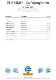 FLEXIMO - Lieferprogramm - Wallenfels