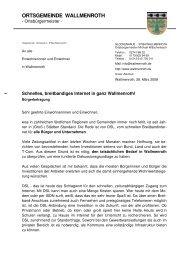 Einwohnerbrief - Gemeinde Wallmenroth