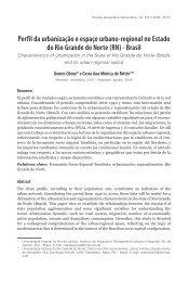 Perfil da urbanização e espaço urbano-regional no ... - Saber ULA