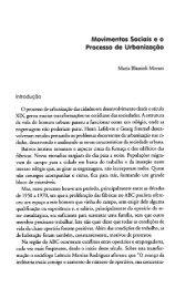 Movimentos Sociais e o Processo de Urbanização - Diversitas - USP