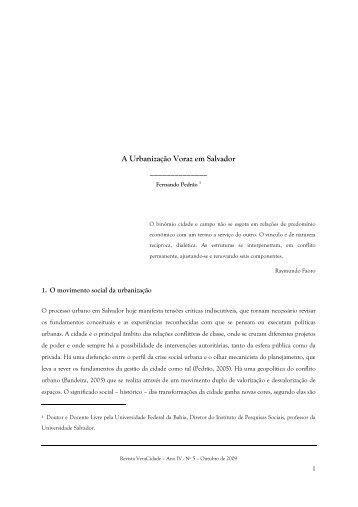 A Urbanização Voraz em Salvador - Revista Eletrônica Veracidade