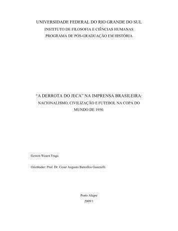 A derrota do Jeca na - Repositório Institucional da UFRGS