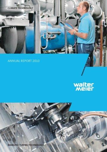 AnnuAl report 2010 - Walter Meier