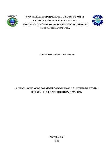 UNIVERSIDADE FEDERAL DO RIO GRANDE DO NORTE - UFRN