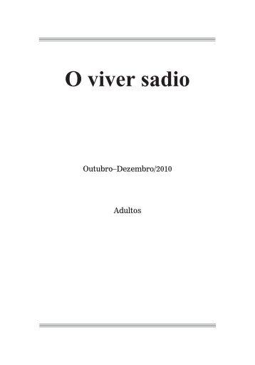 O viver sadio - Adventistas do 7º Dia - Movimento de Reforma