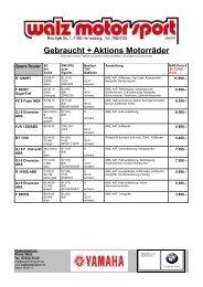 Gebraucht + Aktions Motorräder - walz  motor sport gmbh