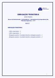 Obrigação Tributária - Tribunal de Justiça do Estado do Rio de Janeiro