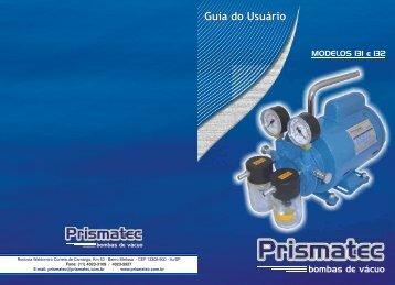 Manual 131 132 Site - PRISMATEC bombas de vácuo