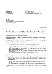 Wanderwettbewerb zum 112. Deutschen Wandertag in Bad Belzig