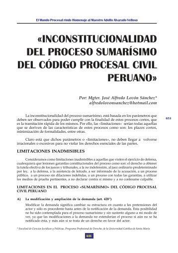 inconstitucionalidad del proceso sumarísimo del código ... - EGACAL