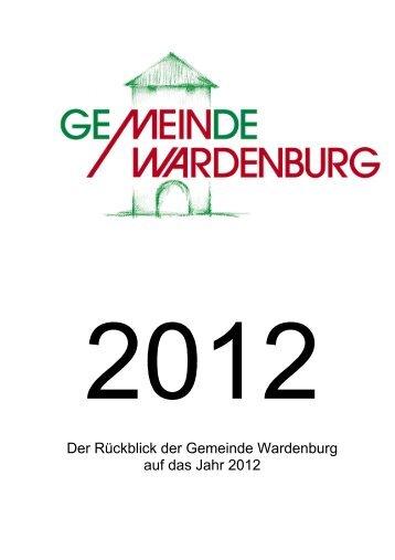Der Rückblick der Gemeinde Wardenburg auf das Jahr  2012