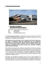 C. Bildungswege der Gymnasien 1. Gymnasium ... - Warendorf