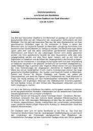 Gestaltungssatzung zum Schutz  des Stadtbildes in dem ... - Warendorf