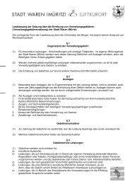 Satzung über die Erhebung von Verwaltungsgebühren - Waren