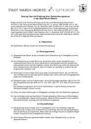 Satzung über die Erhebung einer Zweitwohnungssteuer in ... - Waren