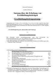 Satzung über die Erhebung von Erschließungsbeiträgen - Warthausen