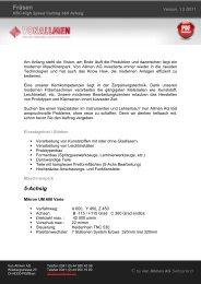 Fräsen HSC-Bearbeitung - von Allmen AG