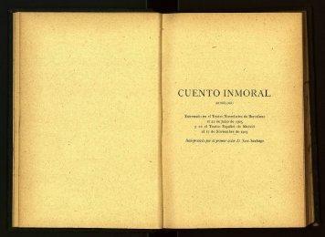 Cuento Inmoral. - cdigital