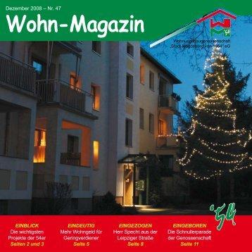 Wohn-Magazin Dezember 2008 - Wohnungsbaugenossenschaft ...