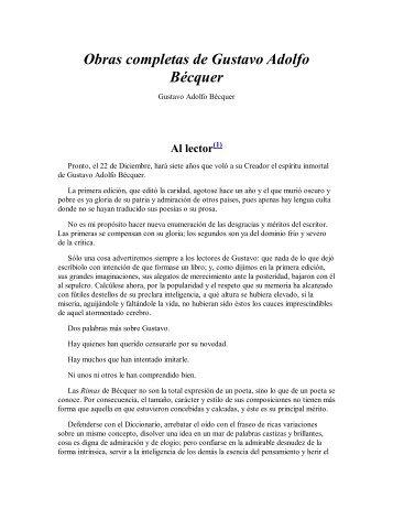 Obras completas de Gustavo Adolfo Bécquer - wikia.nocookie.net