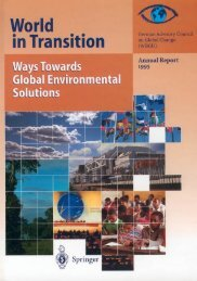 World in Transition: Ways to Global Environmental ... - WBGU