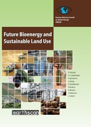 Future Bioenergy and Sustainable Land Use - WBGU