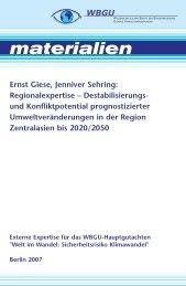 Regionalexpertise – Destabilisierungs- und ... - WBGU