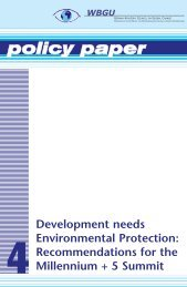 download as pdf, 182 KB - WBGU