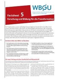 Download Factsheet PDF - WBGU