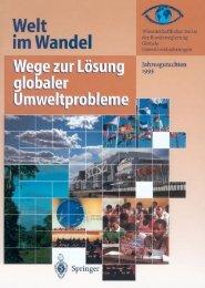 Wege zur Lösung globaler Umweltprobleme - WBGU