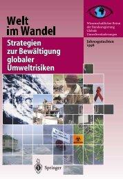 Welt im Wandel: Strategien  zur Bewältigung globaler ... - WBGU