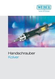 Broschüre Kolver - Weber Schraubautomaten