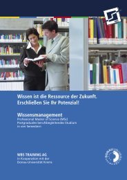 Wissensmanagement - WBS Training AG