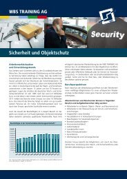Download Produktblatt Sicherheit und ... - WBS Training AG