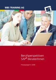 Berufsperspektiven SAP -Berater/innen - WBS Training AG