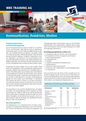 Kommunikation, Redaktion, Medien - WBS Training AG
