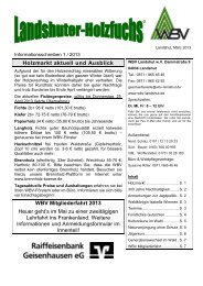 Holzmarkt aktuell und Ausblick WBV Mitgliederfahrt 2013 Heuer ...