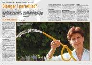 Slanger i paradiset? - WBT