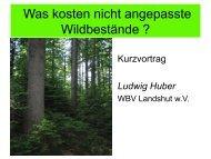 Kosten der Waldverjüngung Vergleich - WBV Landshut wV