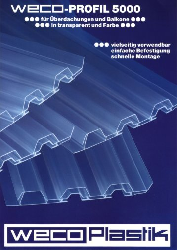 WECE-PROFIL 5000 - WECO PLASTIK GmbH