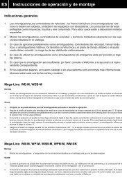 Instrucciones de operación y de montaje ES - Weforma