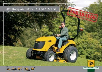 JCB Kompakt-Traktor 323 HST/327 HST - Wegema-trac.de