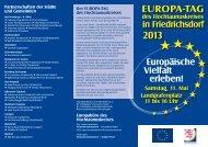 Veranstaltungsprogramm zum Europa-Tag - Stadt Oberursel