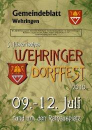 Gemeindeblatt 02.2010 - Gemeinde Wehringen