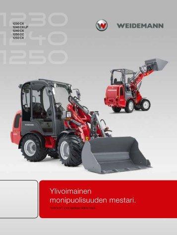 Ylivoimainen monipuolisuuden mestari. - Weidemann GmbH
