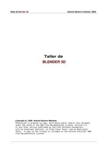 Taller de BLENDER 3D - El Viajero