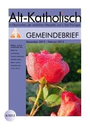 Gemeindebrief 4/2012 - Alt-Katholische Gemeinde in Coburg