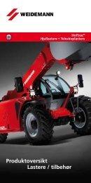 Produktoversikt Lastere / tilbehør - Weidemann GmbH