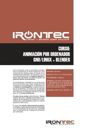curso: animación por ordenador gnu/linux + blender - Irontec